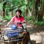 Student on quad bike